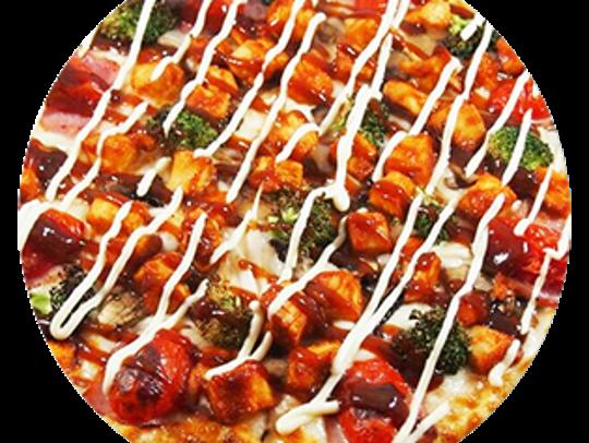 Mon Pere pizza at Pizza Maru has green tea dough.