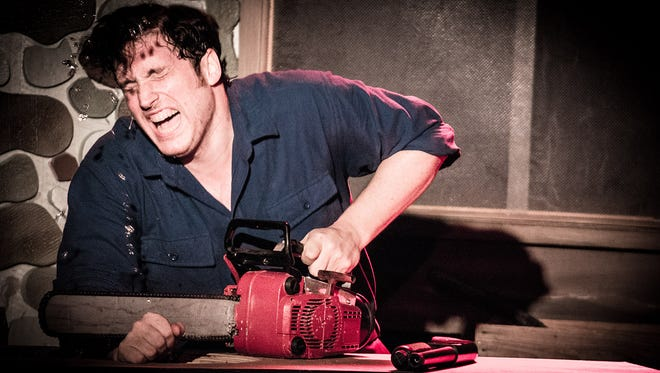 """Ryan PJ Mulholland co-stars in """"Evil Dead: The Musical,"""" which return to Wilmington's Bootless Stageworks for a blood-splattered two weekend run."""