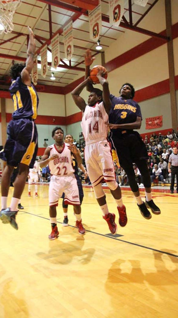 LW Higgins played the Ouachita Lions Friday night in