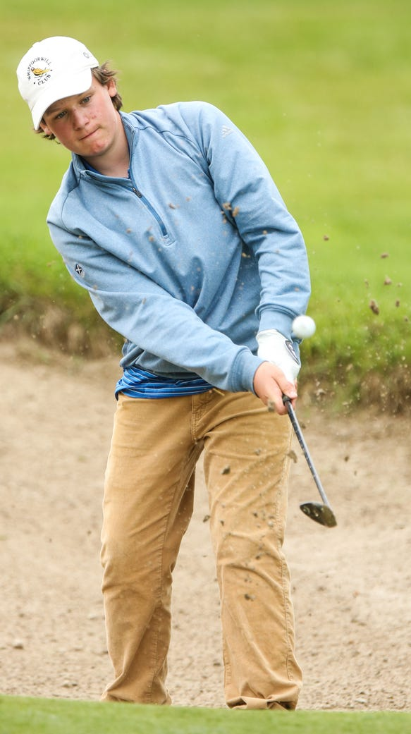 Section 1's Matthew Ferrari chipped his ball out of