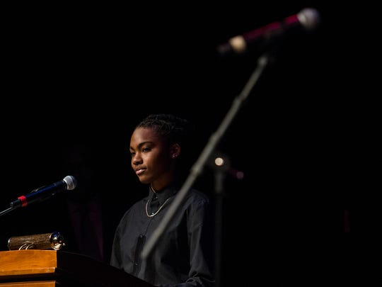2016 MLK Communications Contest Kaamilah Diabate hosts the 2018 Dr. Martin Luther King Jr. Communication Contest Sunday at the Baby Grand in Wilmington.
