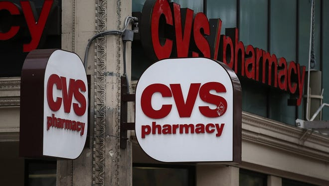 A sign is posted on the exterior of a CVS store on June 15, 2015 in San Francisco, California.