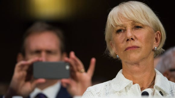 Actress Helen Mirren testifies Tuesday at a Senate hearing on the Holocaust Expropriated Art Recovery Act of 2016 .