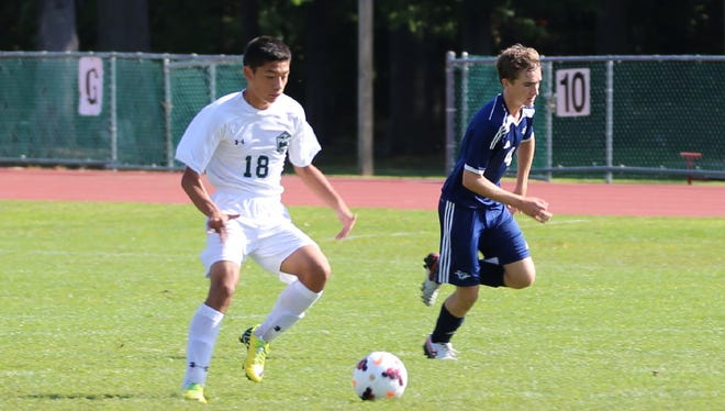 Jacob Leonard (18) scored two goals for Passaic Valley against West Milford.