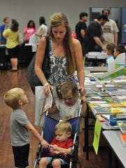 Melissa Poole attends a homeschool book fair in Pineville