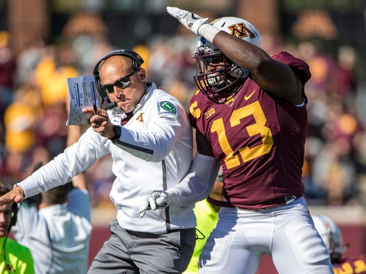 NCAA Football: Maryland at Minnesota