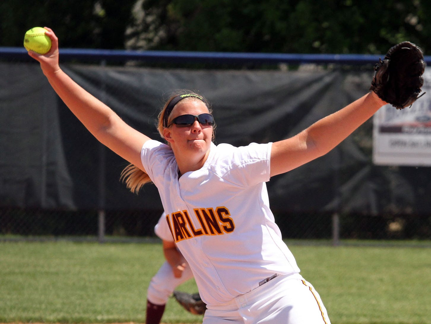 Junior Abby Krzywiecki will do the pitching again this year for the Marlins.