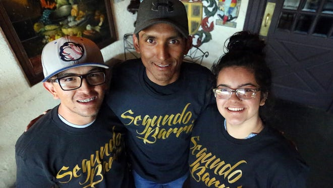 Francisco Mata, left, Erik Espinoza Villa, center, and Shyanne Murguia will travel to New York for the premiere screening of a documentary film they appear in.