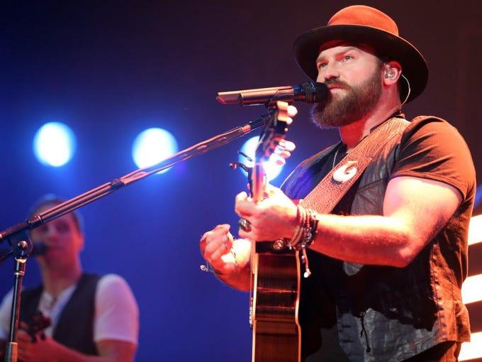 Zac Brown Band performs at Bridgestone Arena on Friday.