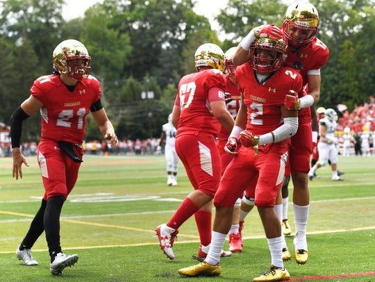 Wide receiver Dylan Classi and Bergen Catholic will