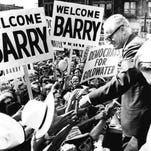 Barry Goldwater campaigns in 1964