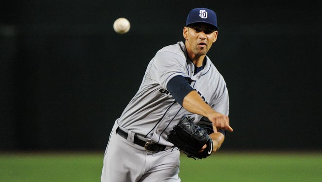June 20, 2015; Phoenix; San Diego Padres starting pitcher Tyson Ross throws in the first inning against the Arizona Diamondbacks at Chase Field.
