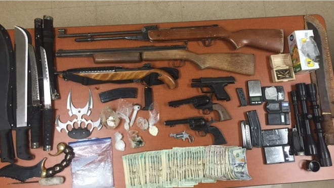 A narcotics warrant served at an Indio residence turned up drugs, money and weapons