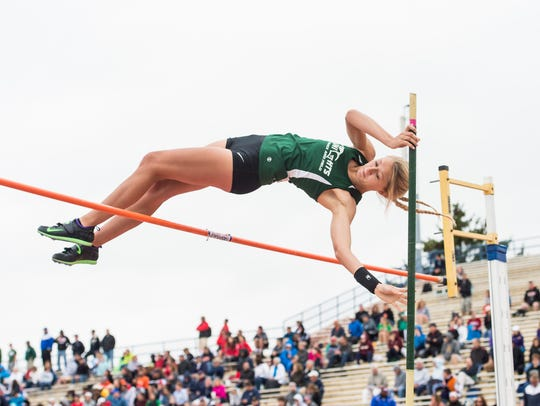 Fairfield's Cierra Phillips competes in the pole vault