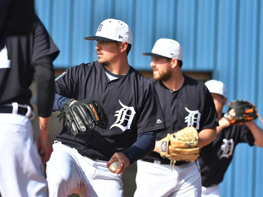 Tigers left-hander Blaine Hardy, who is fighting for
