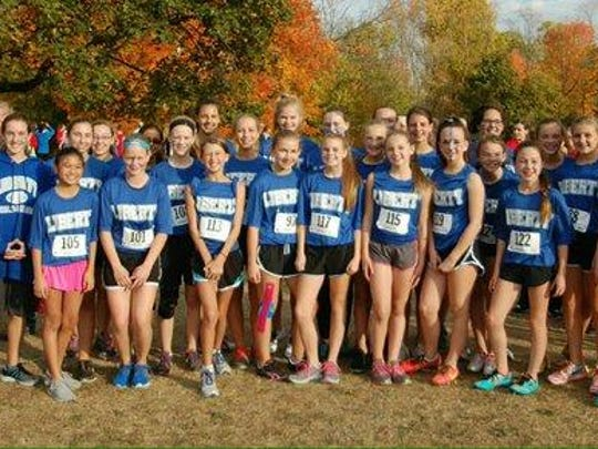 Liberty Middle School's varsity girls cross country