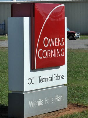 Toledo, Ohio-based Owens Corning has announced plans to shut down its technical fabrics plant in Brunswick, Maine, and move its operations to the Wichita Falls plant located on Randy Drive.