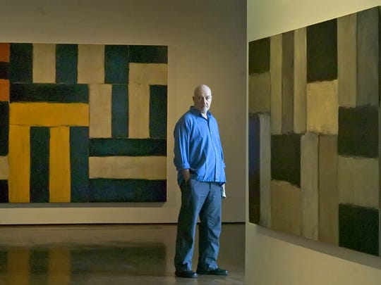 Artist Sean Scully, shown here during a 2006 exhibit