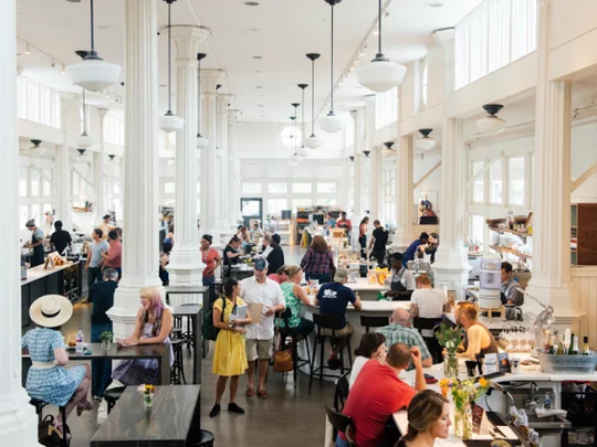 St. Roch Market opened last year in New Orleans with 13 food and beverage vendors.