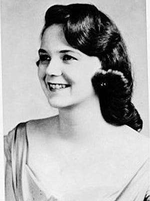 Chi Omega photo of Mary Horton before her 1961 marriage to Felix Vail.