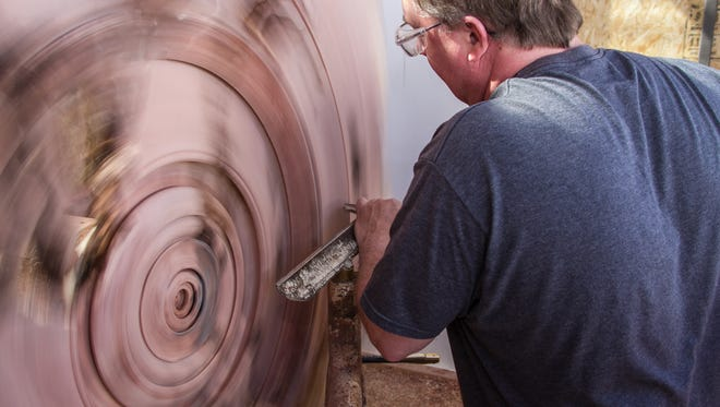During the Celebration of Fine Art, guests can see artists such as wood sculptor David Barkby at work.