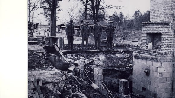 The Dahmer sons returned from service to view the remains of their family home destroyed in the Klan's 1966 firebombing.