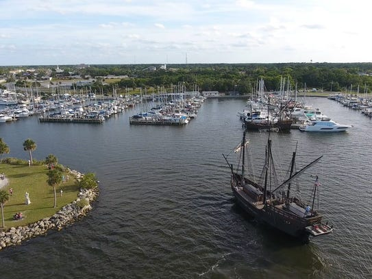 Replicas of the Niña and Pinta will be at the Titusville