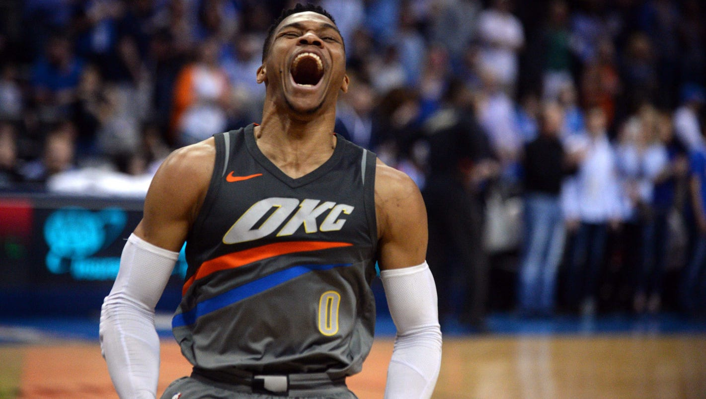 Russell Westbrook makes NBA history, becomes first player to average triple-double twice