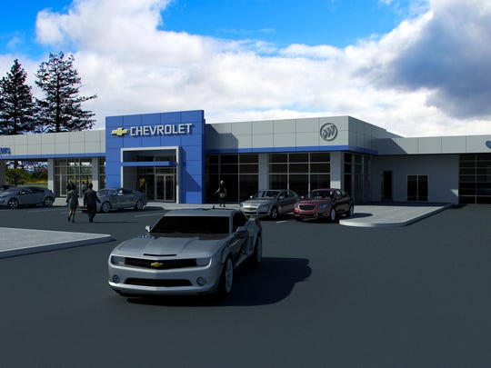 An artist's rendering of what the Mathews Chevrolet