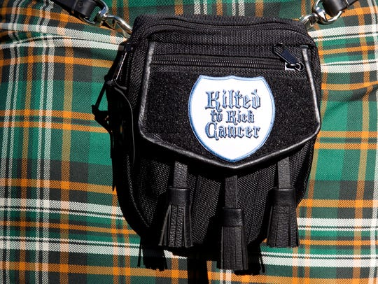 Fred Simons pouch that he wears with his kilt that