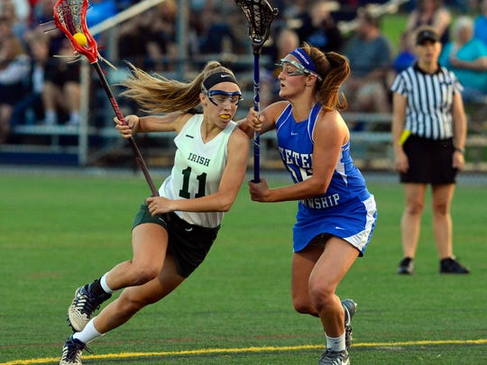 York Catholic vs Exeter in District 3 girls lacrosse