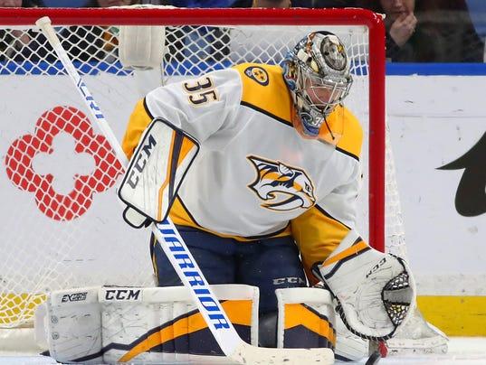 USP NHL: NASHVILLE PREDATORS AT BUFFALO SABRES S HKN BUF NSH USA NY
