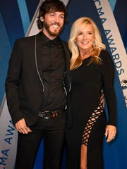 Chris Janson on the red carpet at Music City Center