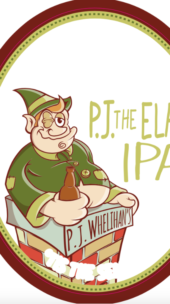 P.J. the Elf is off the shelf and on tap at some P.J.s