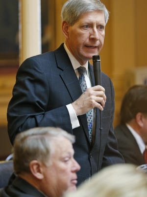 Del. Steve Landes, R-Weyers Cave, speaks on the floor of the House of Delegates on Jan. 26.
