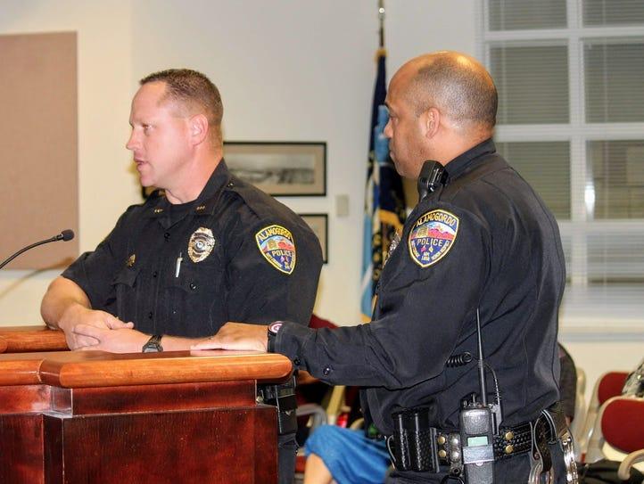 Alamogordo Police Chief Brian Peete and Deputy Police