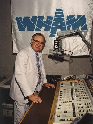 Nick Nickson at WHAM 1180, where he retired from the radio industry in 2007.