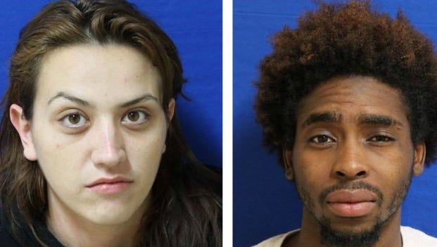 Pictured, from left, Amber Villarreal and Quintravious Flowers.