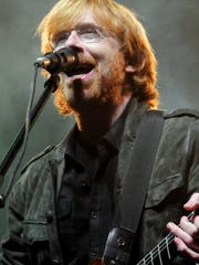 Phish front man Trey Anastasio performs during a benefit