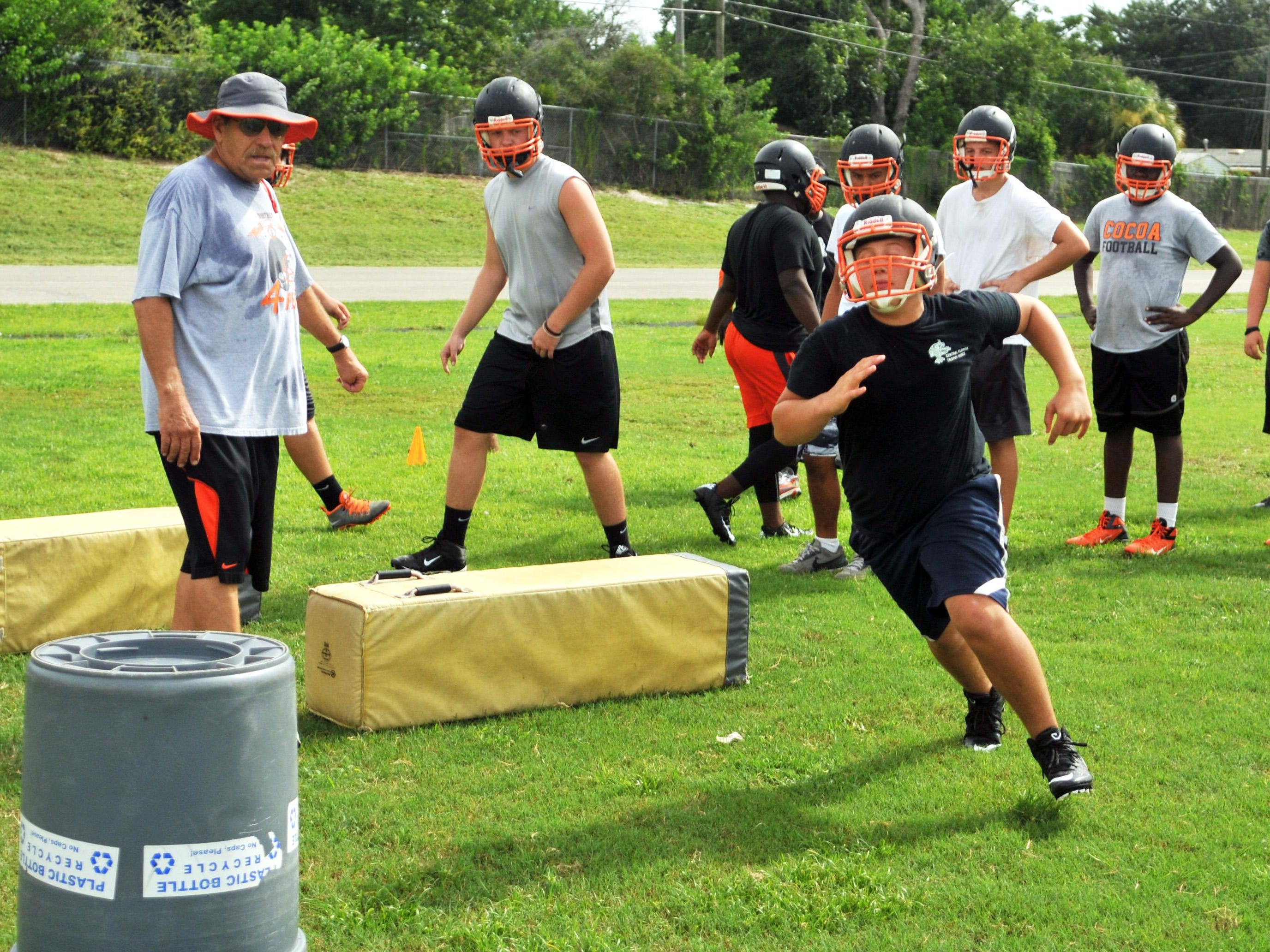 Cocoa Tigers football practice, Monday morning, August 3.