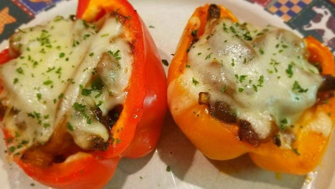 Philly Cheesesteaks In Stuffed Pepper Form