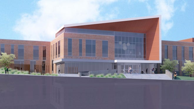 Artist's rendering of the Clinical Health Sciences Center.