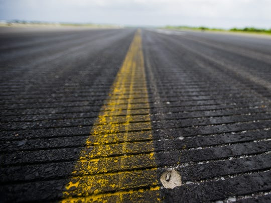 Small holes have been appearing on the runway at the