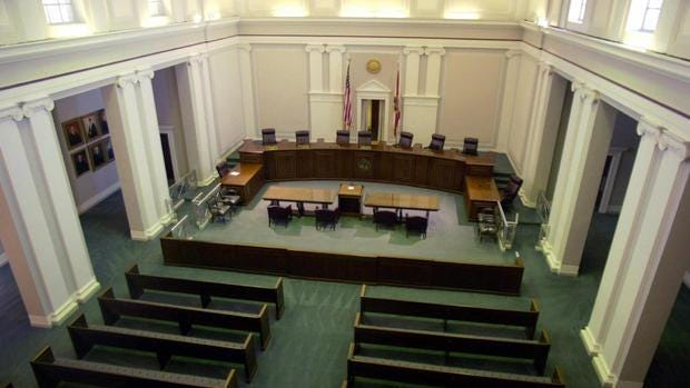 The chamber of the Florida Supreme Court
