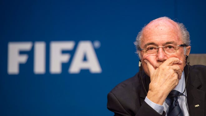Sepp Blatter, president of FIFA, who is resigning from the position.