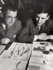 Hugh Iltis (right) and colleague John Thompson in the
