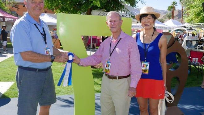 """Mayor's Choice"" winner Arthur Coccaro, R.M. mayor Ted Weill and Jenny Weill"