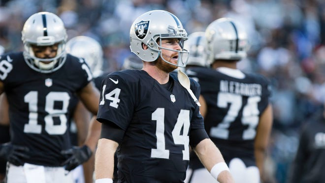 Raiders quarterback Matt McGloin will make his first start since 2013 when he faces the Denver Broncos in the regular season finale.