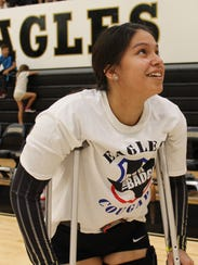 Abilene High senior P.J. Martinez, who is out for the