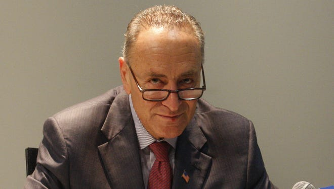 U.S. Senator Charles Schumer talks with The Journal News editorial board.